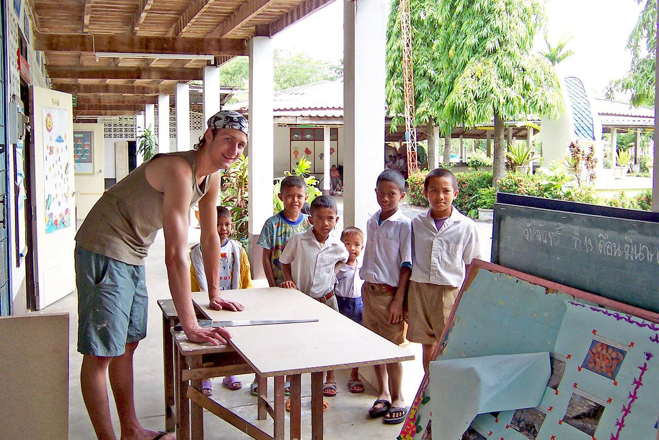 Strand und Volunteering in Thailand       'Eintauchen und Helfen'